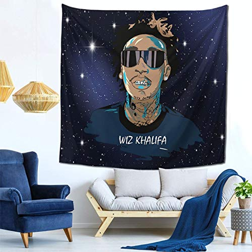 ChangLiXianZiHang Wiz Khalifa Tapestry Wall Hangings Fashion Mural Art Novelty Decorative Blankets for Bedroom Living Room Dorm