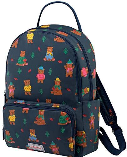 Cath Kidston Large Pocket Backpack Woodland Bear In Navy