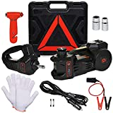 ONREVA Electric Car Jack Kit 5 Ton with Power Impact Wrench and Tire Inflator Pump, 12V Hydraulic Lift Jack Perfect for SUV MPV Sedan Truck Automatic Roadside Emergency Change Tires Repair Set