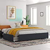 REALROOMS Alden Platform Bed with Storage Drawers, King Size...