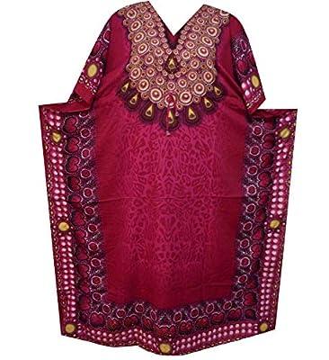 Decoraapparel Womens Maxi Long Dashiki V-Neck Caftan Dress Cover up