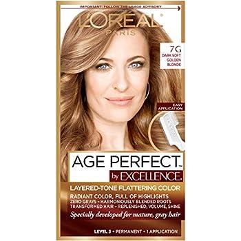 L Oreal Paris Age Perfect Permanent Hair Color 7G Dark Natural Golden Blonde 1 Kit