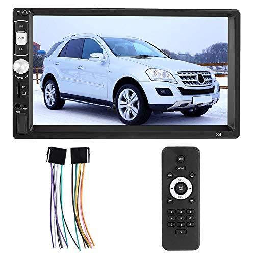 Hakeeta 7-inch auto Mp5-speler, multifunctionele videospeler, intrekbare multimedia-auto met telescopische touchscreen en afstandsbediening, bluetoothverbinding, U-disk, kaartspel, AUX-weergave