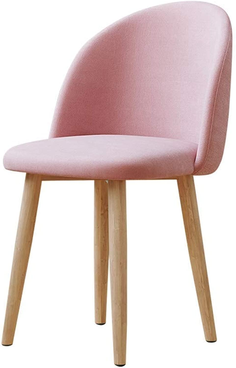 17-inch Modern Minimalist Chair, Soft Cushion Chair, Home Bedroom Bar Restaurant Cafe (color   Pink)
