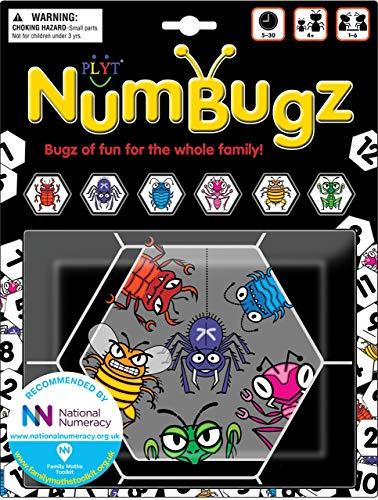 NumBugz: 6 súper Flexibles familias de Bugz Que, 13 Juegos Diferentes para Jugar, Recomendado por National Numeracy, para 1-6 Jugadores a Partir de 4+ años