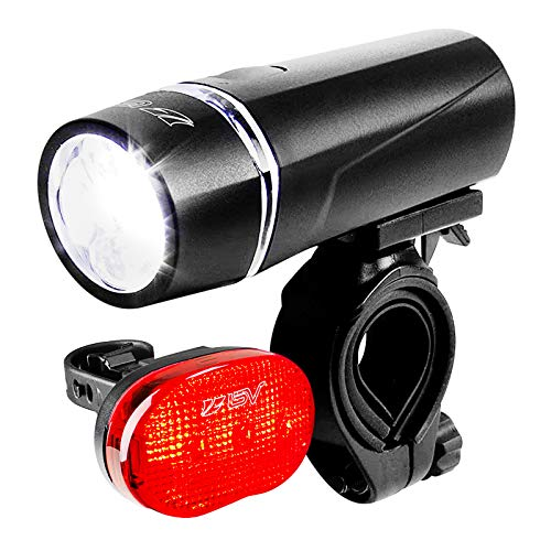 BV - Set di Fanali per Bicicletta con Fanale Anteriore a 5 LED Ultra Luminoso e Fanale Posteriore a 3 LED, Rilascio Rapido, Luci per Bici