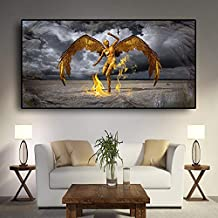 KFEKDT Guardian Angel of Leo Miguel Portrait Canvas Painting Scandinavia Posters and Prints Wall Art Pictures for Living Room (Frameless) A4 60x100CM