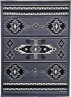 Rugs 4 Less Collection 南西部ネイティブアメリカン インディアン エリアラグデザイン グレー SW3 (8フィートx10フィート、グレー)