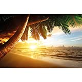 GREAT ART® XXL Poster – Strand Sonnenuntergang –