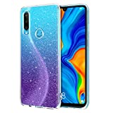 YINLAI Huawei P30 Lite Case Crystal Clear Glitter Bling