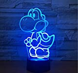 Lifme Yoshi 3D Led USB Lamp Cartoon Game Figure Super Mario Acrylic Novelty Christmas Lighting Gift RGB Touch Remote Controller Toys