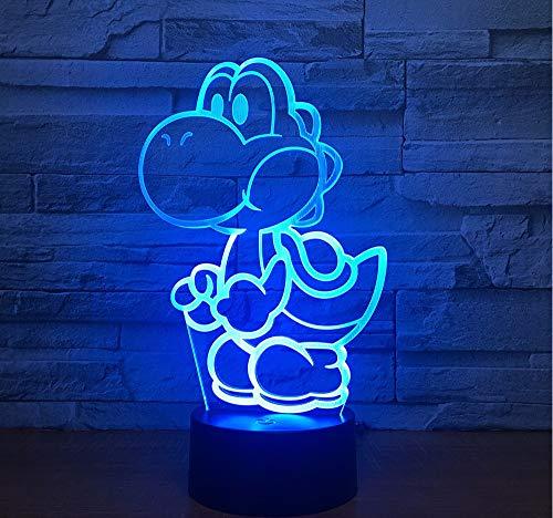Lifme Yoshi 3D Led Usb Lampe Cartoon Spiel Figur Super Mario Acryl Neuheit Weihnachten Beleuchtung Geschenk Rgb Touch Fernbedienung Spielzeug