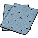 Gimars Heavy Absorbency Washable Waterproof Dog Mat, 2 Pack Reusable 36'x31' Anti-Tear Dog Training Pads, Quick Dry Whelping Pads for Dogs, Pee Pads for Incontinence, Crate, Playpen, Kennel Sleeping