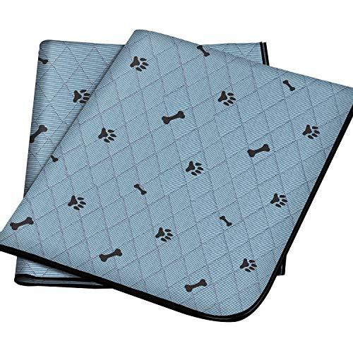Gimars Heavy Absorbency Washable Waterproof Dog Mat, 2 Pack Reusable 36