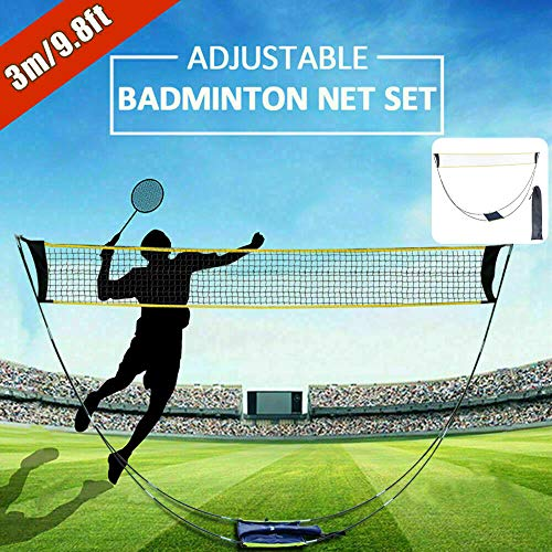 Ajfashion Portable Badminton Net Set with Poles Freestanding Standard Volleyball Tennis Sports Nets with Storage Bag for Outdoor Garden Beach …