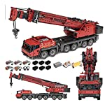 RSWLY Technics Crane Turck Set Compatible con Lego Technic, 4460pcs 2.4g Dual Remote Control Technic Grove GMK6400 III grúa con 5 Motos, Conjunto de Edificios avanzados para Adultos y niños