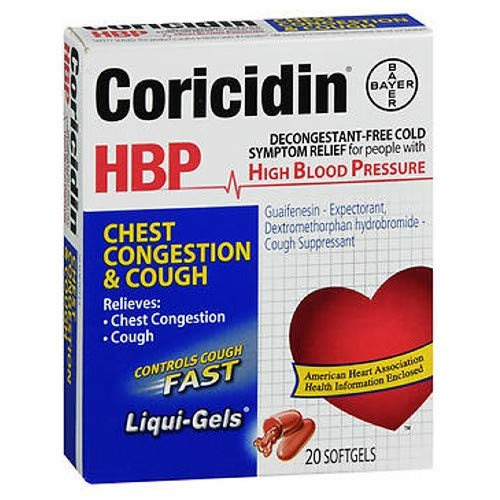CORICIDIN HBP CHEST CONG COUGH LG 20S