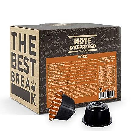 Note d'Espresso Italiano - Cápsulas de bebida de cebada, Compatibles con cafeteras de cápsulas Nescafé, Dolce Gusto, 48 unidades de 3g
