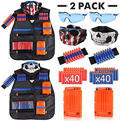 Tactical Vest Kit 2 Pack for Nerf Guns N-Strike Elite Series by UWANTME