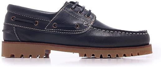 Castellanísimos Zapatos Náuticos de Piel Napa con Cierre de Cordones Color Marino
