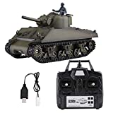 RC Tank, Heng Long 3898-1 1/16 2.4GHz Sherman M4A3 RC Tank Model with 320 Degrees Rotating Turret Move Barrel