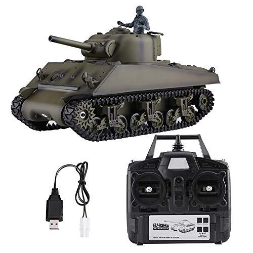 Dilwe RC Panzerspielzeug, Heng Long 3898-1 1/16 2,4 GHz Sherman M4A3 RC Panzermodell mit 320 Grad drehendem Turm