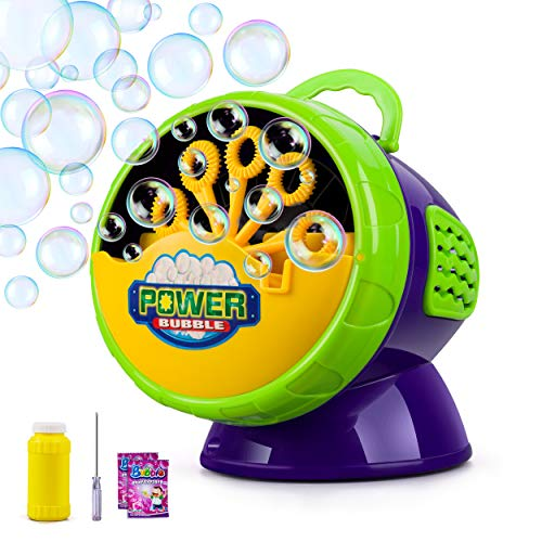 Juboury Bubble Machine, Automatic Bubble Blower for Kids, Bubble Maker 2200+ Per Minute Bubble Machine for Parties, Weddings, Indoor and Outdoor Activities