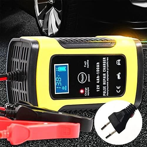 Landia Vollautomatisches Autobatterie-Ladegerät 110V bis 220V bis 12V 6A LCD Smart Fast zum Aufladen von Auto-Motorrad-Blei-Säure-Batterien