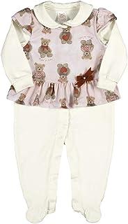 Macacão Natural-Bebê Menina-Molecotton-110743-68