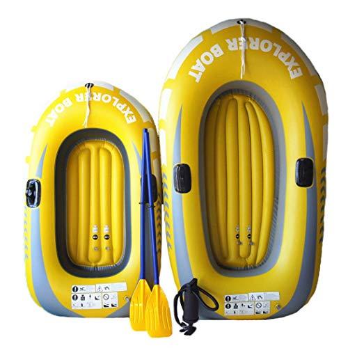 Shilanmei aufblasbares Kajak-Boot, PVC-Kajak-Boots-Set, für Explorer, Touring, Rafting, Angeln, Schlauchboot mit Paddeln und Luftpumpe (150 x 110 cm)