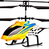 AORED RC Drone Toy with LED Light Navigation & Gyroscope Stabilizing System Indoor/Outdoor Airplane Aircraft for Kids Age 6+ Remote Control Helicopter Toys 3.5 CH Built-in Gyro Anti-Collision