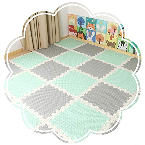 Sale!! YANGJUN Interlocking Foam Mats Kids Non-Slip Waterproof Protection Anti-Fall Beauty Seam Floo...