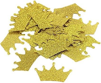 Confetti 100 ct Glitter Tiara Crown Confetti Party Decor Table Decorations MANY COLORS AVAILABLE
