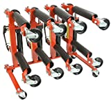 Mytee Products 4pc 1500# Hydraulic Positioning Car Wheel Dolly Jack Vehicle Lift hoists & Stand