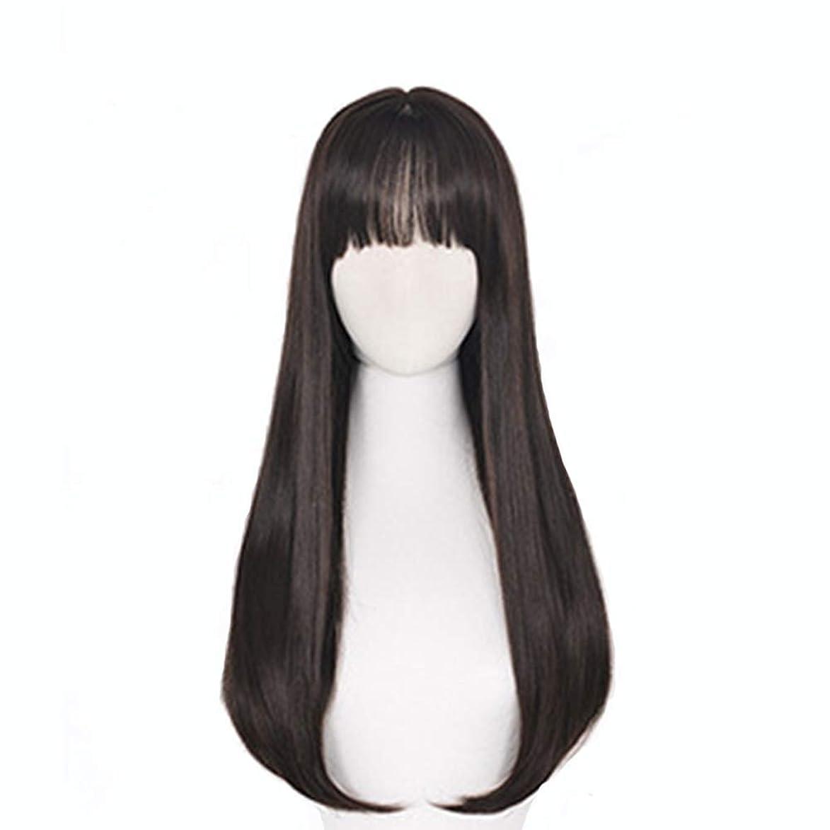 風刺攻撃的テーブルを設定する女性のかつら、ファッションナチュラルブラックストレートカーリーヘアビッグウェーブ耐熱高温シルクウィッグ、コスプレウィッグ
