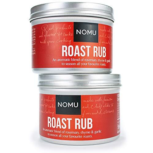 NOMU Roast Seasoning Rub (3.88 oz   2-pack)   MSG & Gluten Free, Non-GMO, Non-Irradiated
