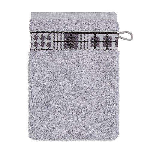 Frottana Fjord Gant de Toilette 15 x 20 cm en 100% Coton, Silver