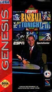 ESPN Baseball Tonight Genesis Instruction Booklet (SEGA GENESIS MANUAL ONLY - NO GAME) Pamphlet - NO GAME INCLUDED