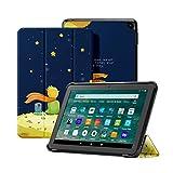 OLAIKE Custodia per Tutto nuovo tablet Kindle Fire HD 8/8 Plus(10a Generazione, 2020), Copertura del supporto a tre ante con Auto Sleep/Wake (Solo per 2020 Fire HD 8/8 Plus),Il ragazzo e la volpe