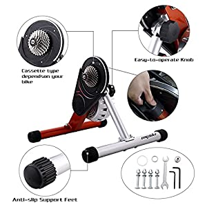 unisky Direct Drive Bike Trainer Indoor Exercise Fluid Bicycle Training Stand Mountain & Road Bike Trainer