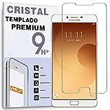 REY Protector de Pantalla para Samsung Galaxy C9 / C9 Pro, Cristal Vidrio Templado Premium