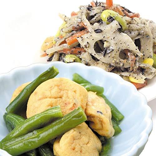 国華園 食品 惣菜2種セットB 根菜と豆の黒胡麻サラダ&ミニがんも煮付け 4組