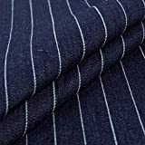 No Logo XAB428 gestreifter Jeansstoff gefärbt Denim Stoff