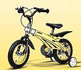 LYP Triciclo Bebé Trolley Trike Bicicleta for niños convenientes, 3 años de Hombres y Mujeres Bizcocho Bizcocho 12/14/16 Pulgadas Carruaje for bebé Bicicleta de montaña Niño cómodo