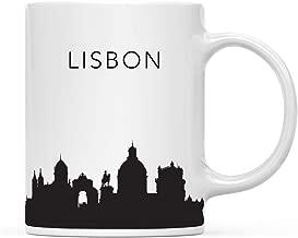 Andaz Press 11oz. Tourist Travel Souvenir Coffee Mug Gift, Lisbon Portugal Skyline, 1-Pack, Christmas Birthday Moving Away Study Abroad Graduation Bon Voyage, Includes Gift Box