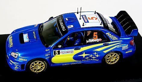 プロドライブ 1/43 スバル インプレッサ WRC 05 WRC第5戦ラリーイタリア 2位 #5 ペター・ソル 完成品