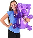 Block Buster Costumes Delicious Candy Large Purple Gummy Bear Animal Inflatable 24'