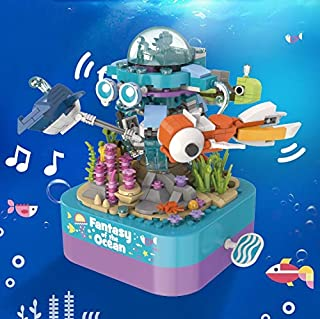 Building Block Small Particles Toys Children's Benefit Intelligence Assembling Brain Christmas Gift DIY Eight Music Box