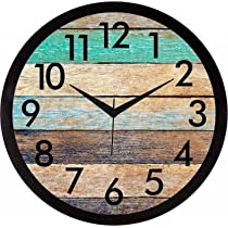 TOWN CRAFTS Plastic Wall Clock For Office, Home, Kitchen, Living Room (Multicolor)