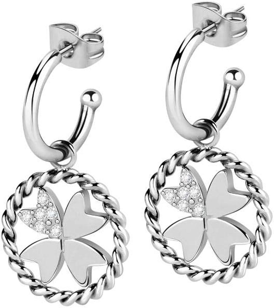 Morellato, orecchini da donna, collezione multigipsy, in acciaio ecristalli SAQG29